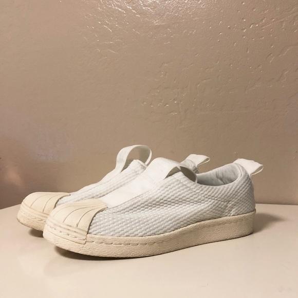 info for e00aa 2edd6 Adidas Superstar Bw3s Slip on Sneaker in White
